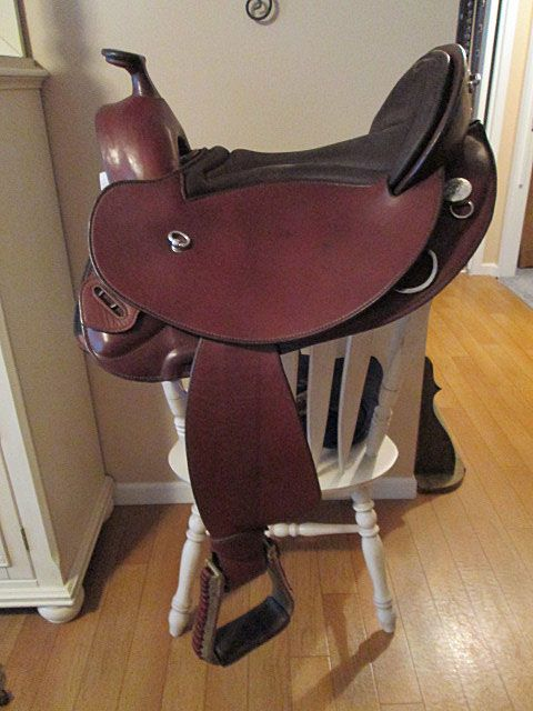 saddle leather for sale startrekk treeless western saddle for 15 quot seat 5037