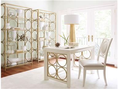 Shop+for+Legacy+Classic+Furniture+Writing+Desk,+5010-509,+and+other+Home+Office+Desks+at+Winner+Furniture+in+Louisville,+Owensboro+and+Radcliff+KY.+A+contemporary+collection+with+a+touch+of+glam+and+bling.+Crafted+of+poplar+solids+and+birch+veneers+in+a+Pearl+finish+with+marbleized+pearl+and+gold+accents.