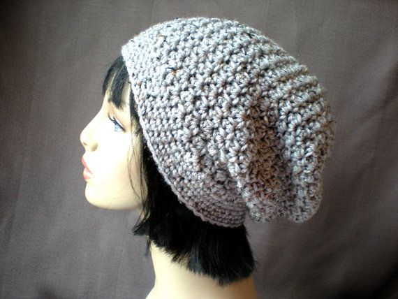 Easy Crochet Winter Hat Patterns : PATTERN: Downton Hat, easy crochet PDF, slouch beanie ...