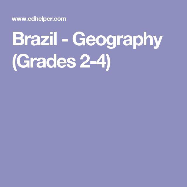 Brazil - Geography (Grades 2-4)