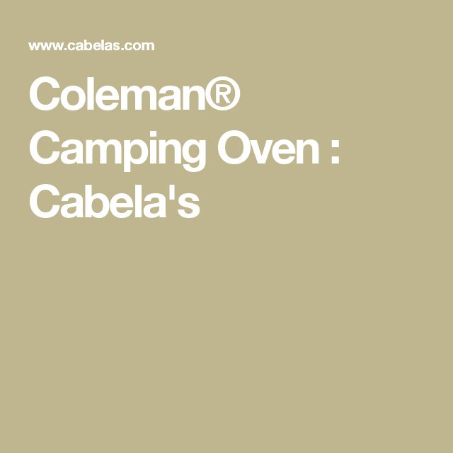 Coleman® Camping Oven : Cabela's
