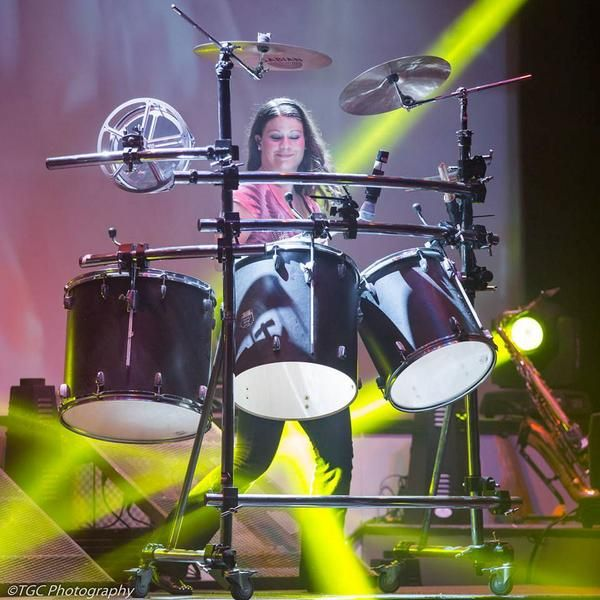 Catherine Haygood on the drums! Taken by TGC Photography.