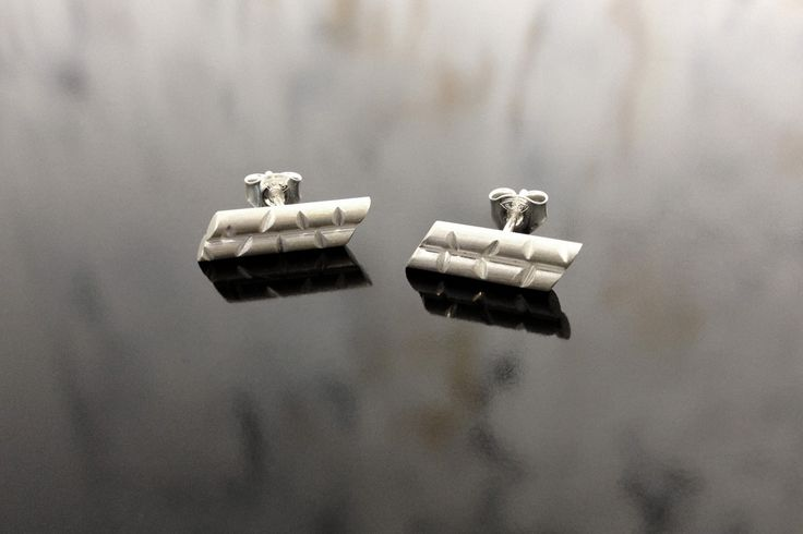 Bambu stud earrings.  Gina Bulgamin