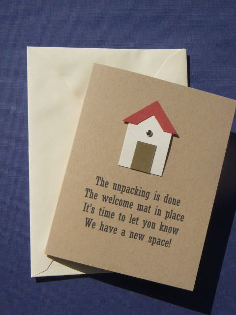 Holly Hume! - We WILL be making these! I'll help you! Housewarming party invite.