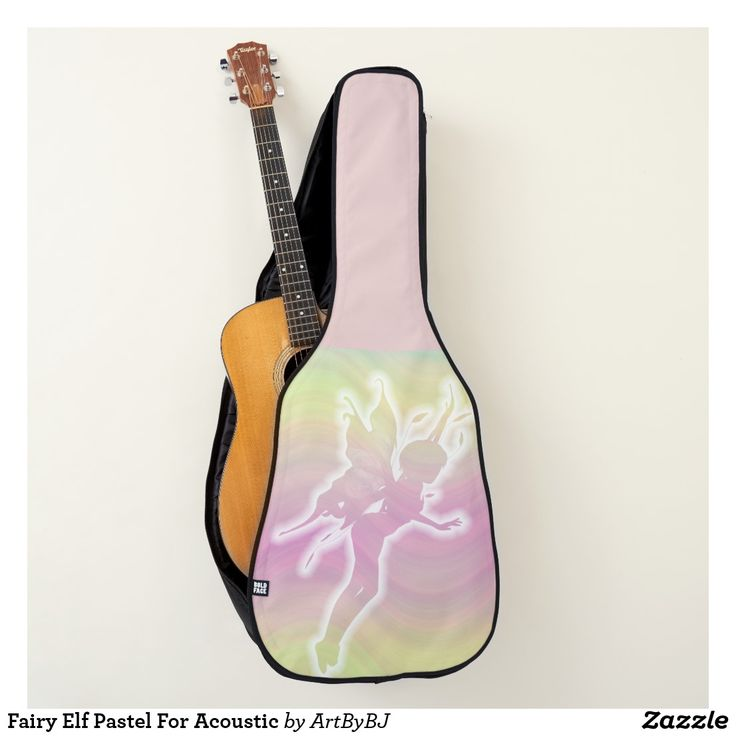 Fairy Elf Pastel For Acoustic Guitar Case a Wonderful Christmas Present for ANY Guitar Player