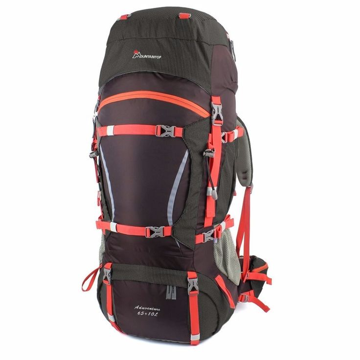65+10L Internal Frame Long Haul Climbing Bag Terylene Material Unisex Travel Camping Outdoor Sport Backpack with Rain Cover