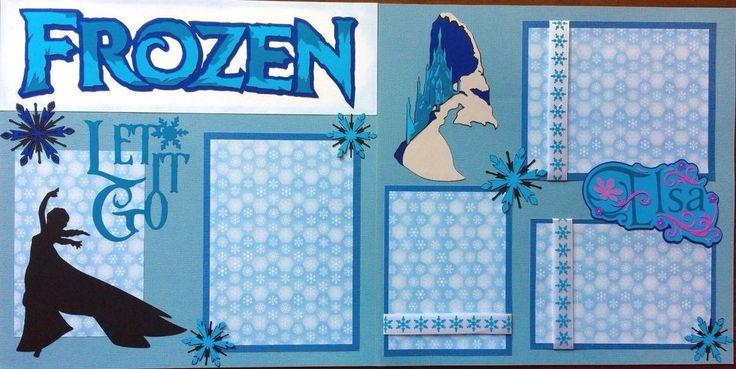 Disney's Elsa Frozen Let It Go 2 12 x 12 Premade Scrapbook Pages | Crafts, Scrapbooking & Paper Crafts, Pre-Made Pages & Pieces | eBay!