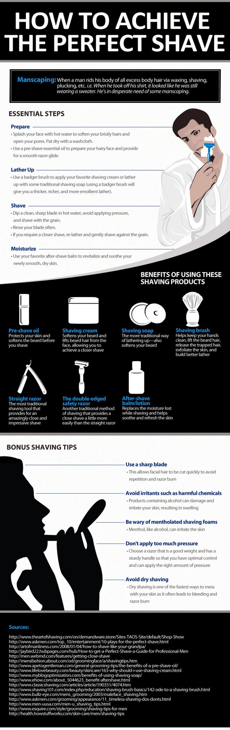 TIPS TO ACHIEVE A NEAR PERFECT SHAVE [INFOGRAPH] - MenProvement.com