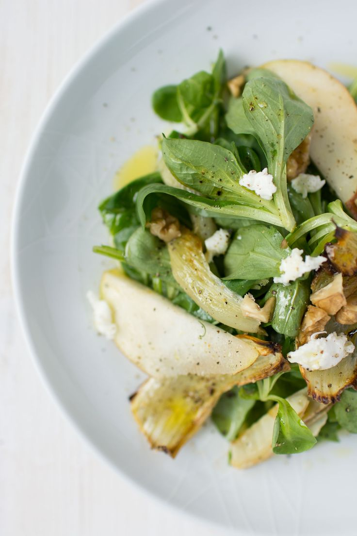 Roasted Fennel and Pear Salad | Lauren Caris Cooks