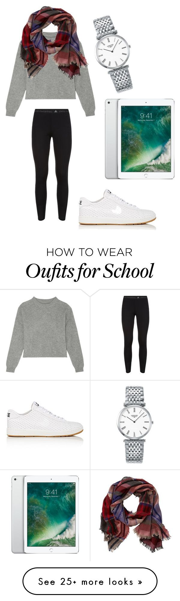 """""""Big presentation at school today"""" by sarahfohlen on Polyvore featuring adidas, Longines, NIKE, Frame Denim, TravelSmith, Fall and 2k16"""