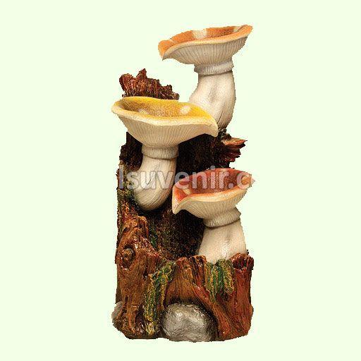 Декоративный фонтан для сада Грибы. Фонтаны садовые и комнатные водопады