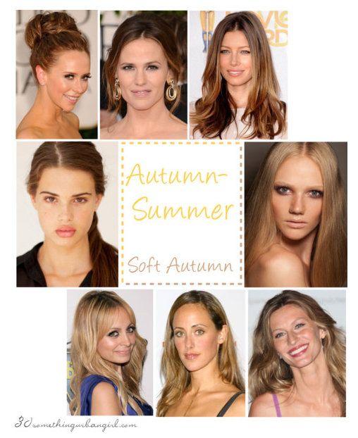 Soft Autumn seasonal color women - Zoi / Nicole Richie / Kim Raver / Gisele Bundchen / Emma S / Jennifer Love Hewitt / Jennifer Garner / Jessica Biel