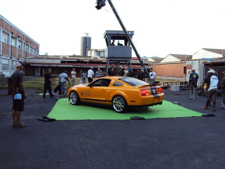 On set at the abattoir a crane shot by the prison tower @AllenIrwin01 427 Special Edition Shelby GT500 Super Snake @CarrollShelby @shelbyamerican #Deathrace2 #MyOctane #Mustang #stunts