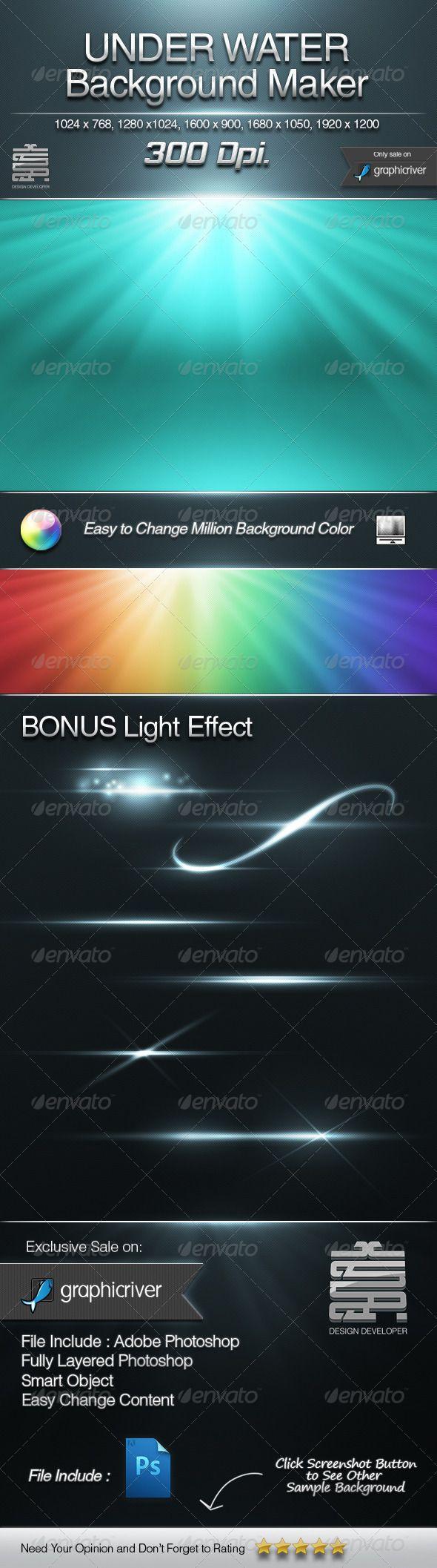 UNDER WATER Background maker & Bonus Light Effect