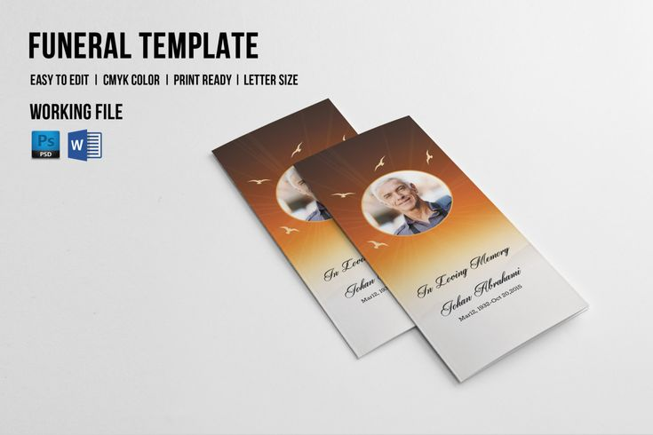 511 best Funeral Program Template images on Pinterest Bridal - how to make a funeral program in word