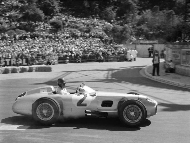 Juan Manuel Fangio at the 1955 Monaco Grand Prix