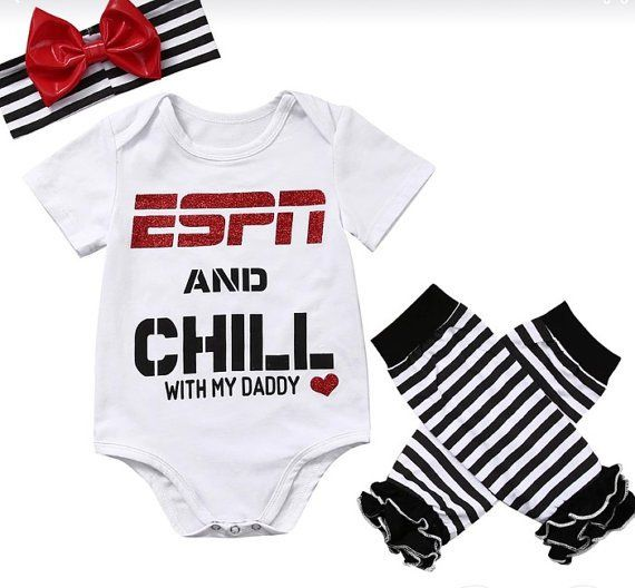 ESPN AND CHILL WITH MY DADDY 3 PIECE SET ASHTON HOUSE BOUTIQUE