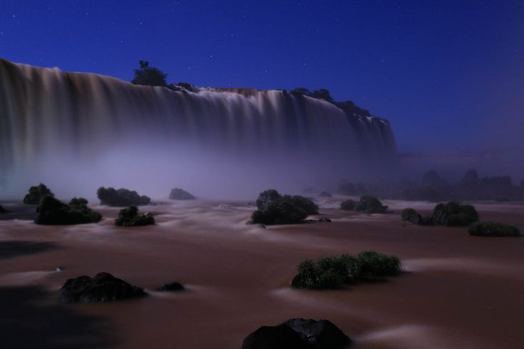 Waterfalls by night taken with Canon EOS 70D DSLR camera