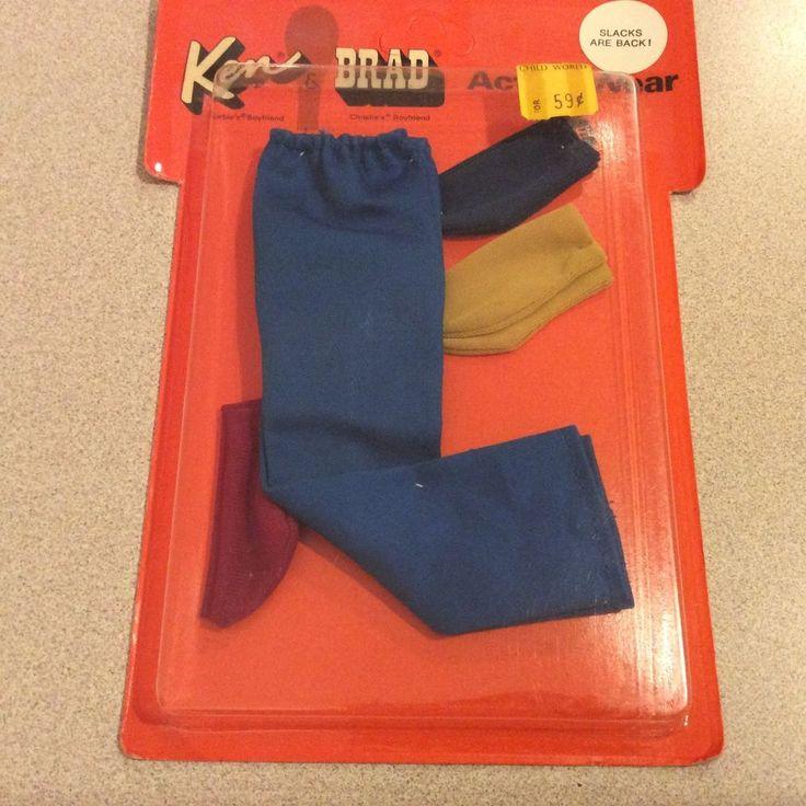 Vintage KEN PAK SLACKS ARE BACK bright blue Pants Gold Red Blue Socks NRFP 1972 #ClothingShoes