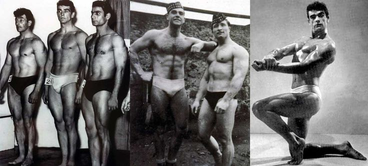 Sean Connery in the 1953 Mr. Universe contest where he finished 3rd.