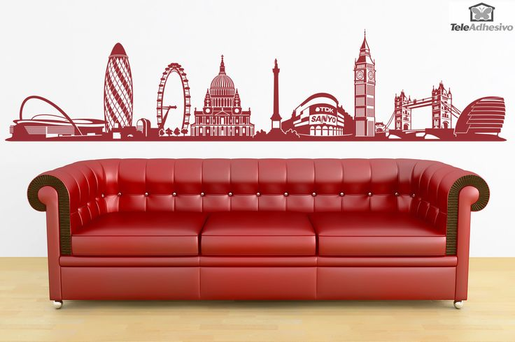 Vinilo decorativo Skyline de Londres #teleadhesivo #decoracion #londres