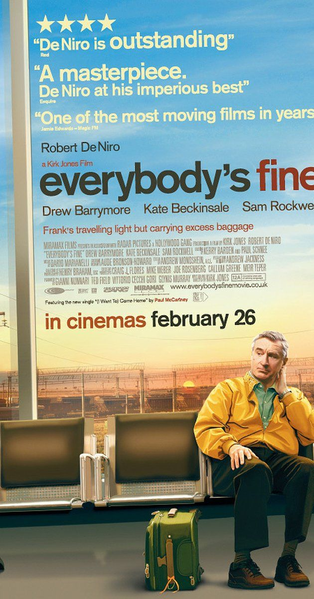 Directed by Kirk Jones. With Robert De Niro, Kate Beckinsale, Sam Rockwell, Drew Barrymore. A widower who realized his only connection to his family was through his wife sets off on an impromptu road trip to reunite with each of his grown children.