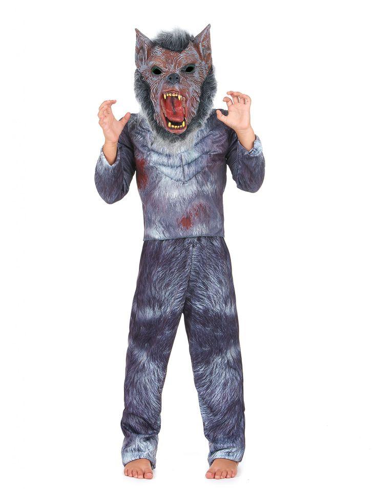 Disfraz de hombre lobo niño: Este disfraz de hombre lobo para niño incluye…