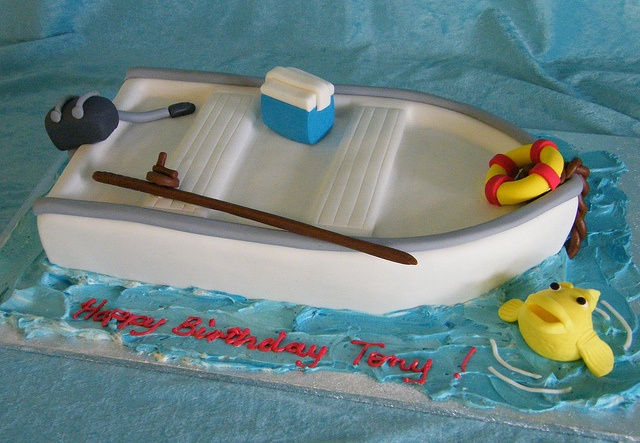 Boat Cake I love for chads bday
