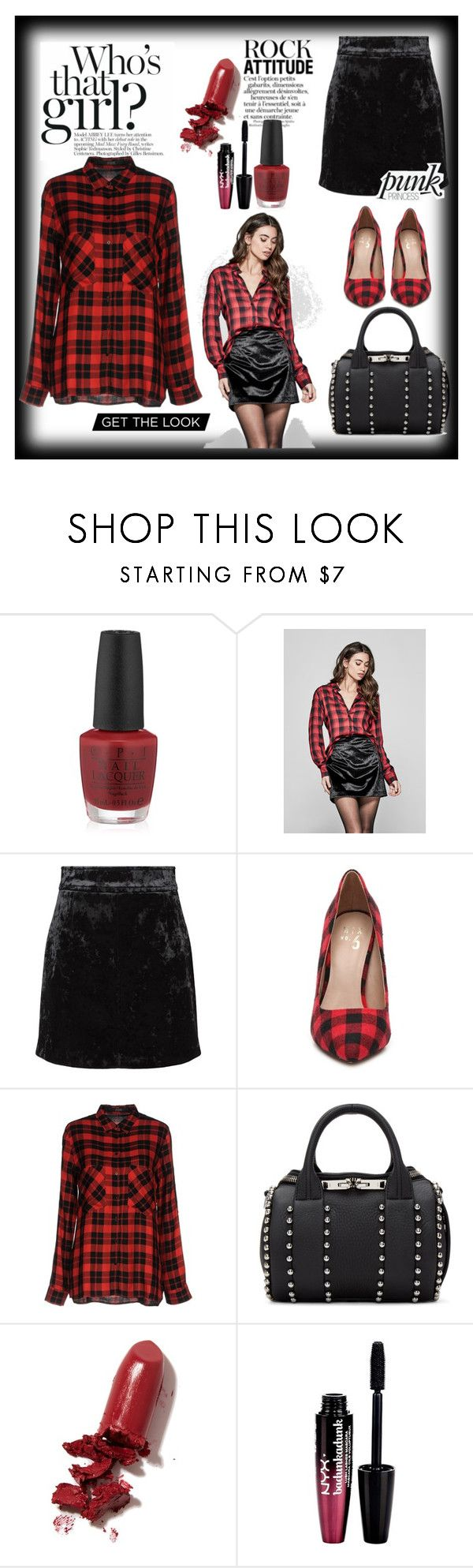 """""""Untitled #210"""" by tracisalazar ❤ liked on Polyvore featuring OPI, GUESS by Marciano, Sandro, GUESS, Alexander Wang, LAQA & Co. and Charlotte Russe"""