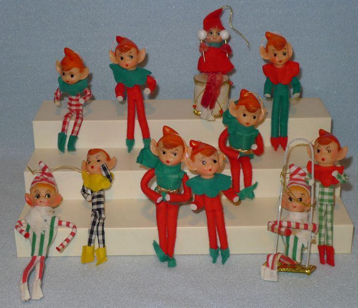 625 best Pixie Elf Ornament Love! images on Pinterest | Vintage ...