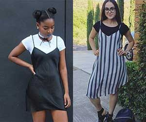 A lot of our favorite old trends came back in style this summer, but if any of them screams '90s the most, it might be the shirt under a dress look. Growing up, I watched all of the *cool kids* and older celebrities pull off silky slip dresses over plain white tees flawlessly, looking messy … Read More