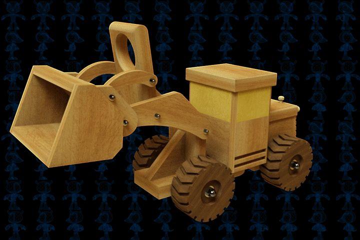 Front-End-Loader Wooden Toy - SOLIDWORKS,Parasolid,AutoCAD - 3D CAD model - GrabCAD