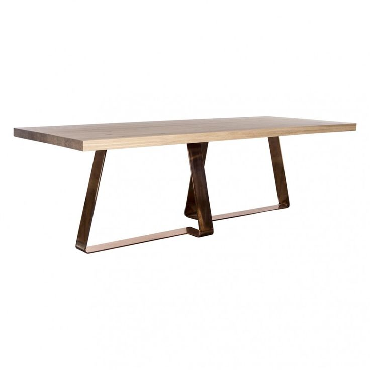 BRADLEY DINING TABLE NATURAL WITH COPPER - New Arrivals - HD Buttercup Online – No Ordinary Furniture Store – Los Angeles & San Francisco