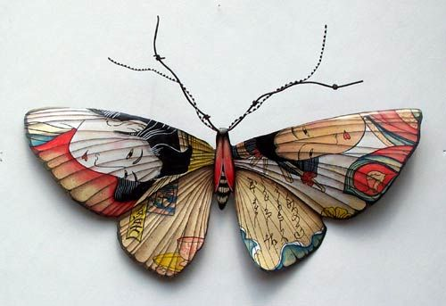 butterfly,japanese, Metalworks