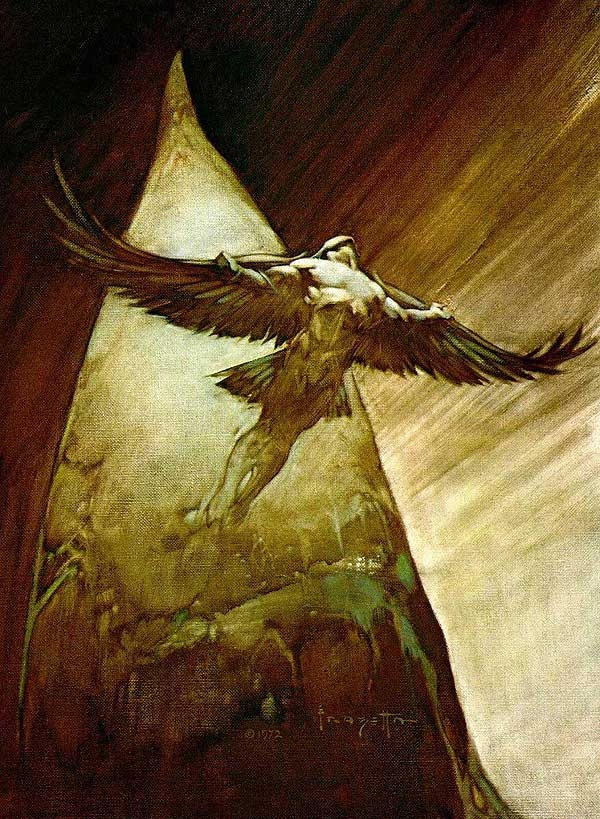 """Frazetta's """"Birdman"""".  I replicated this once - or tried to."""