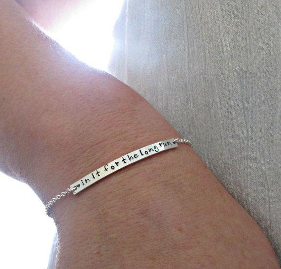Run bracelet, Running jewelry, Sterling Silver, Running Bracelet, Running Gift, Athlete Gift, Runners Gift
