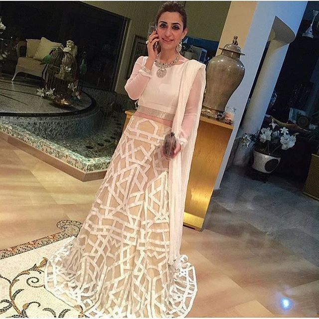 @taibamalik stuns in an all white geometric couture ensemble!@ #ss15 #ramptoreality #applique #handemboridery #weddingdiaries #ootd #instafashion #wiw #pakistanstreetstyle #couture #bespoke #natashakamal