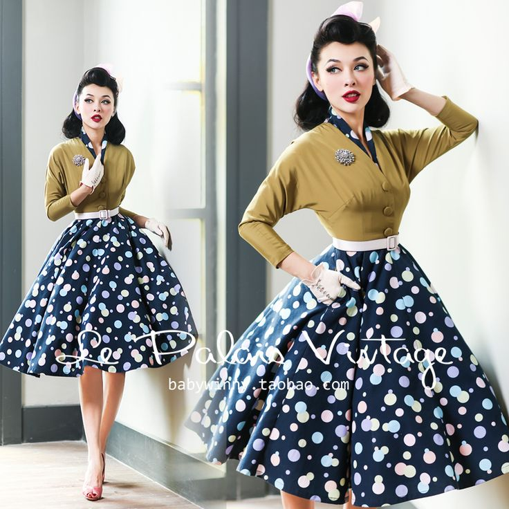Одежда в стиле 50 годов для женщин