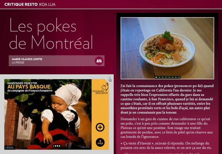 Koa Lua : les pokes de Montréal - La Presse+