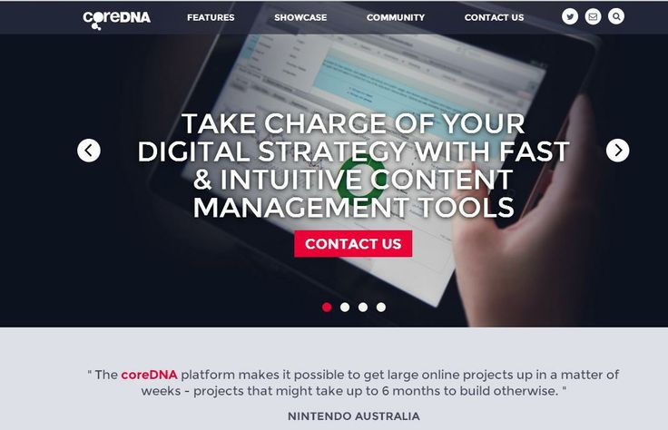 CoreDNA  For More: http://www.themangomedia.com/blog/selecting-right-cms-website-for-your-business-with-industry-trends/