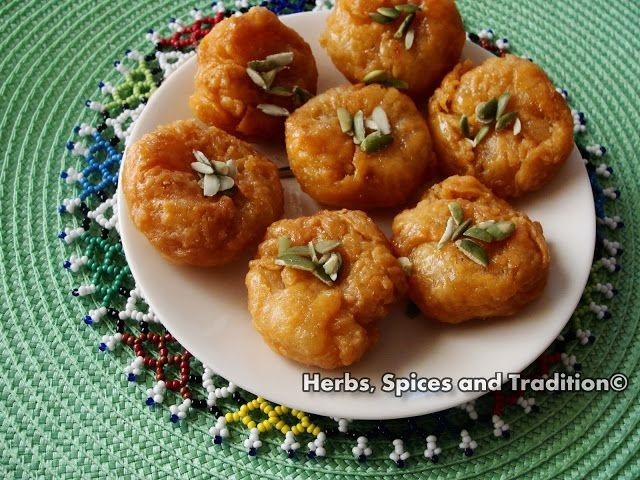 Herbs, Spices and Tradition: Baloo Shahi (Indian styled doughnut)
