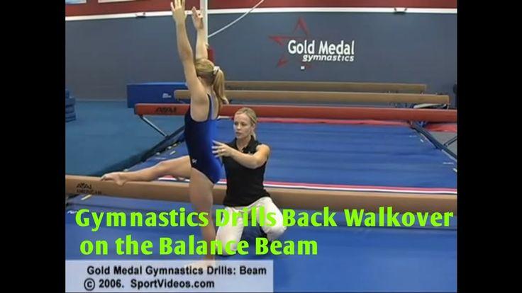 Gymnastics Drills - Back Walkover on the Balance Beam - Coach Amanda Borden