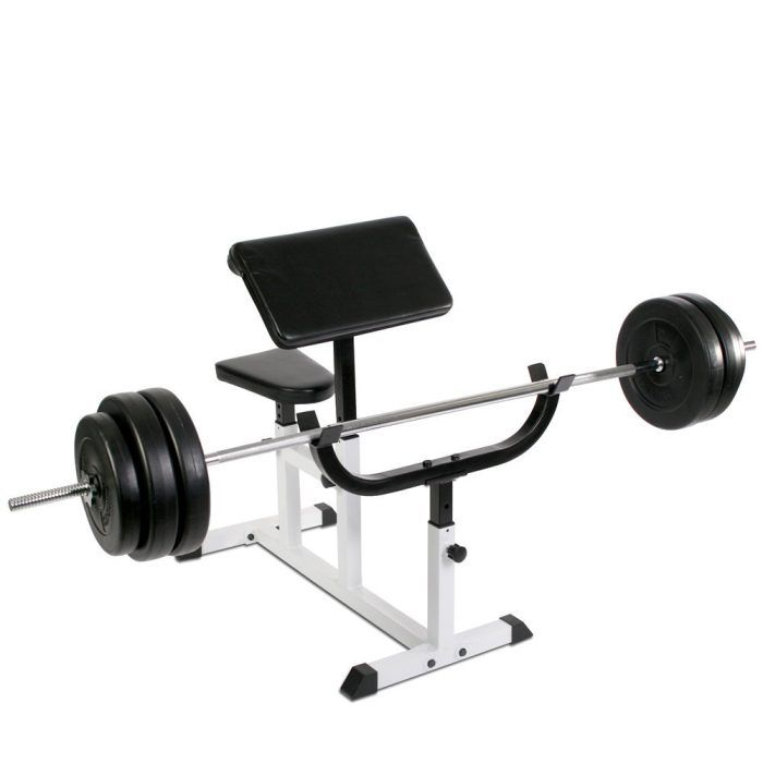 Physionics HNTLB09 Arm Curl Preacher Bench ~~~ # 5-level adjustable seat # 4-level adjustable armrest # 5-level adjustable barbell rack # High quality preacher pad and seat padding for improved comfort when lifting #WeightsBench #Strength #MFN