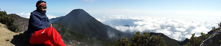 The summit of mt. Gede