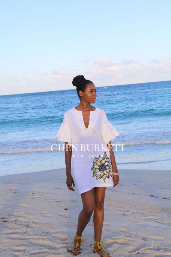 Nieuw De Green Island linnen jurk