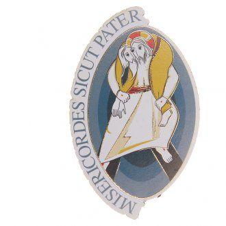Imán Ovalado Jubileo Papa Francisco 8 x 5,5 cm