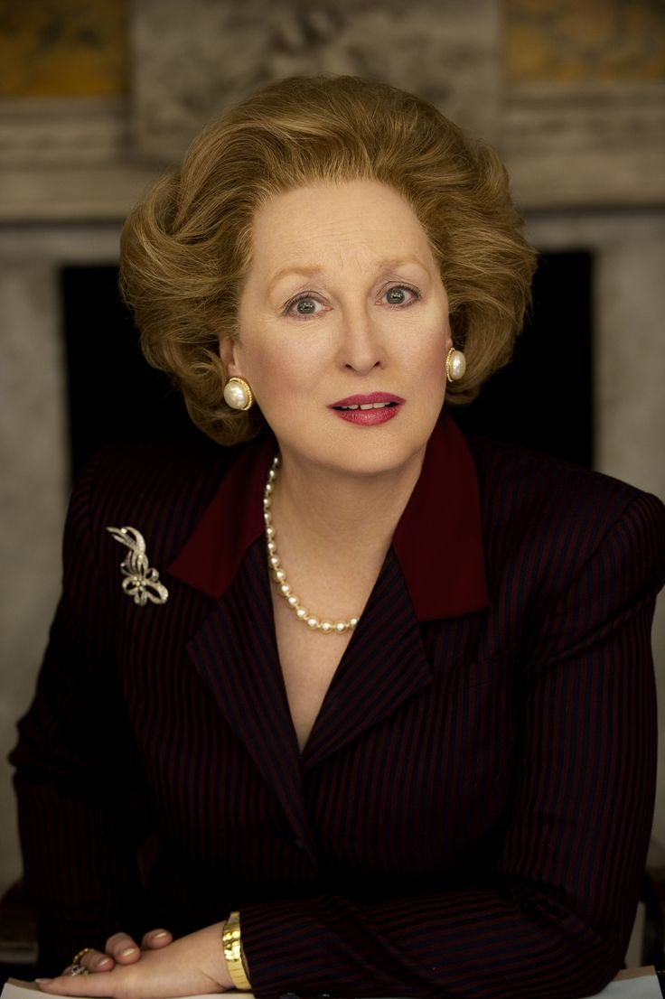 Meryl Streep as Margaret Thatcher in The Iron Lady.  Watching Meryl as Thatcher was kind of eerie.  But boy did she do a fantastic job.