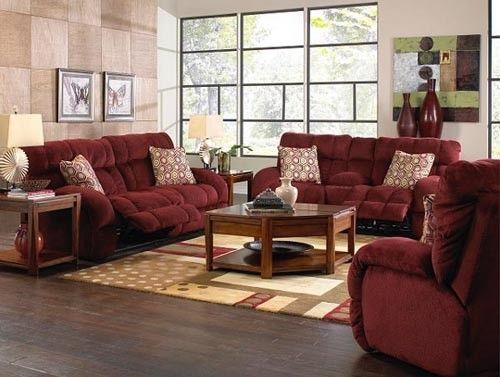 Catnapper - Siesta 2 Piece Power Lay Flat Reclining Sofa Set in Wine/Chianti - 61761-S+L-WINE