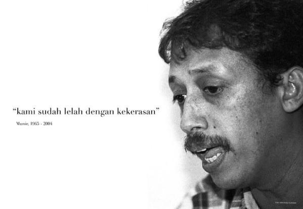 """Karya @GusdurianKediri, """"Kami Lelah dengan Kekerasan ~ Munir, 1965 - 2004"""""""