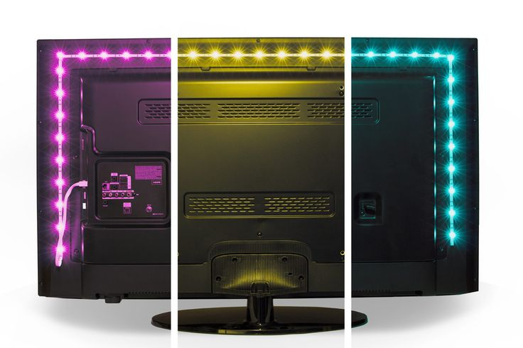 Luminoodle Color Bias Lighting for TV - Small (39in) - Wireless Remote & Built-in Controller - USB LED Backlight RGB Adhesive Strip for Flat Screen HDTV LCD, Desktop Monitors for Ambient Lighting. INCLUDES: 39-in high quality RGB LED strip light kit to provide 250 lumens of USB bias lighting, 3M adhesive backing and reversible USB for easy plug-in. A built in on/off, dimmer, and color changing switch as well as wireless remote make this easy to customize for any viewing situation. 14…
